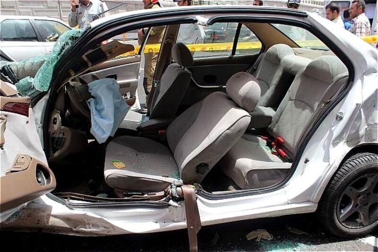 تصادف زنجیرهای ۳۰ خودرو در محور سبزوار - نیشابور+فیلم