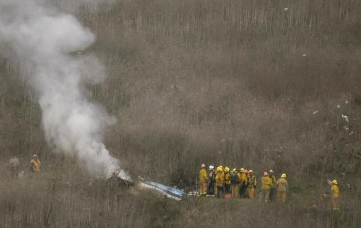لحظه وحشتناک سقوط هلیکوپتر کوبی برایانت+فیلم