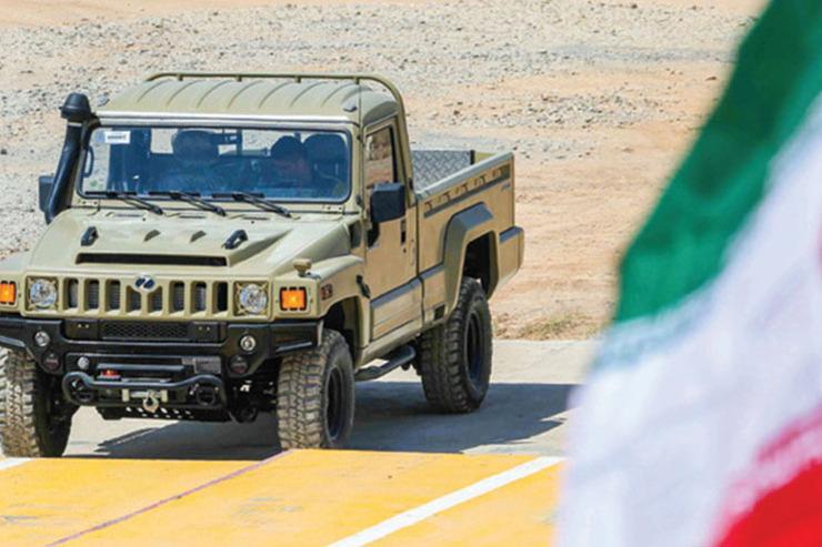 رونمایی از خودروهای دفاعی «ارس 2» و «رعد»