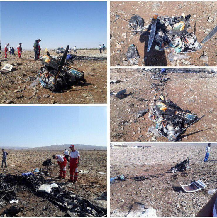 فوت ۲ سرنشین بر اثر سقوط هواپیمای آموزشی در ایوانکی سمنان