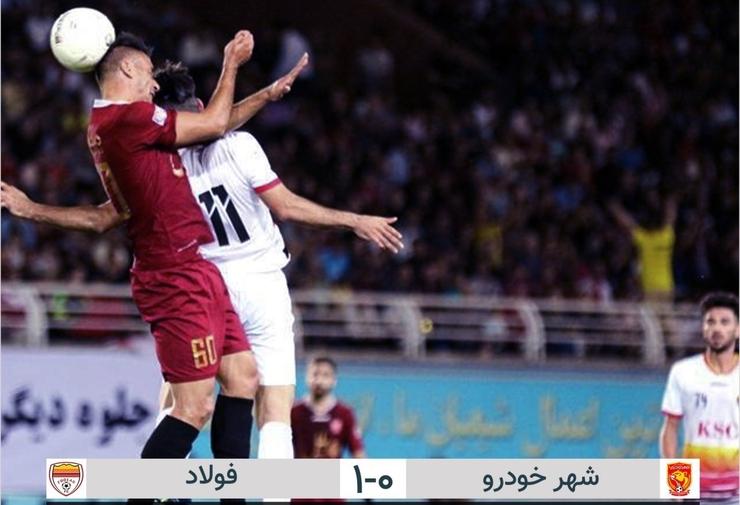 شکست شهرخودرو مقابل فولاد خوزستان در دقایق پایانی + فیلم گل