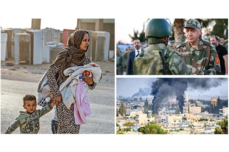 واکنش کاربران مجازی به حمله ترکیه به مناطق کردنشین سوریه