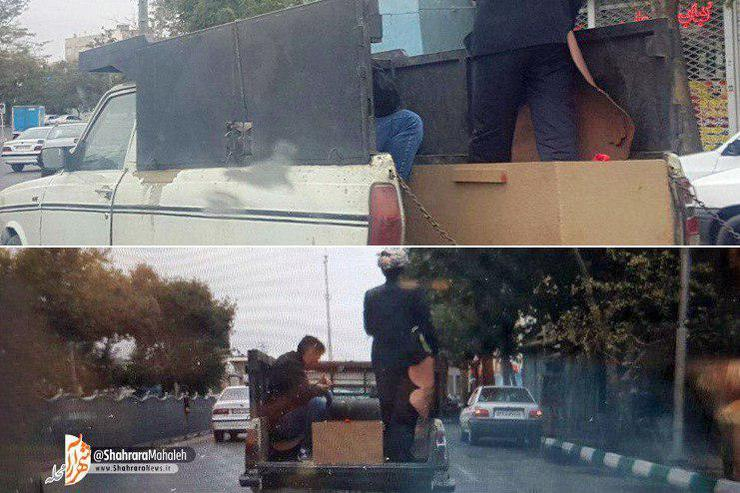 حمل متوفی با وانت در خیابان نواب
