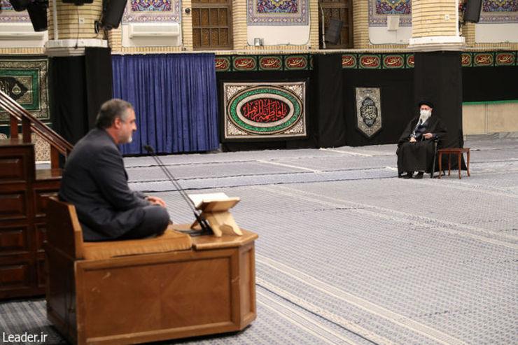 اولین شب مراسم عزاداری ایام شهادت حضرت فاطمه زهرا (س) با حضور رهبر انقلاب برگزار شد