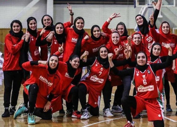 مهرام در نیمه نهایی لیگ برتر بسکتبال بانوان