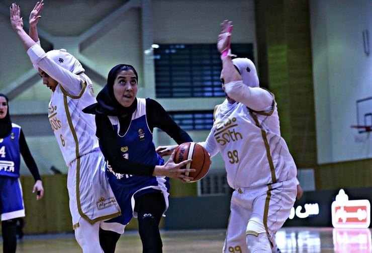 پرش تیم بسکتبال زنان مهرام از از روی چاه نفت |فینال تمام تهرانی