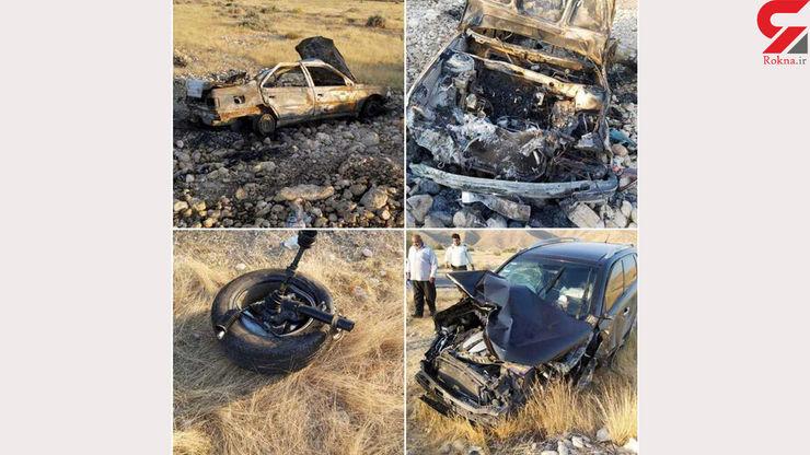 در غرب هرمزگان تصادف با الاغ ۳ کودک را زنده زنده سوزاند
