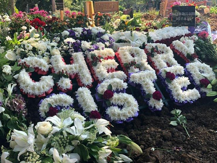 مراسم خاکسپاری ماهچهره خلیلی در لندن + فیلم