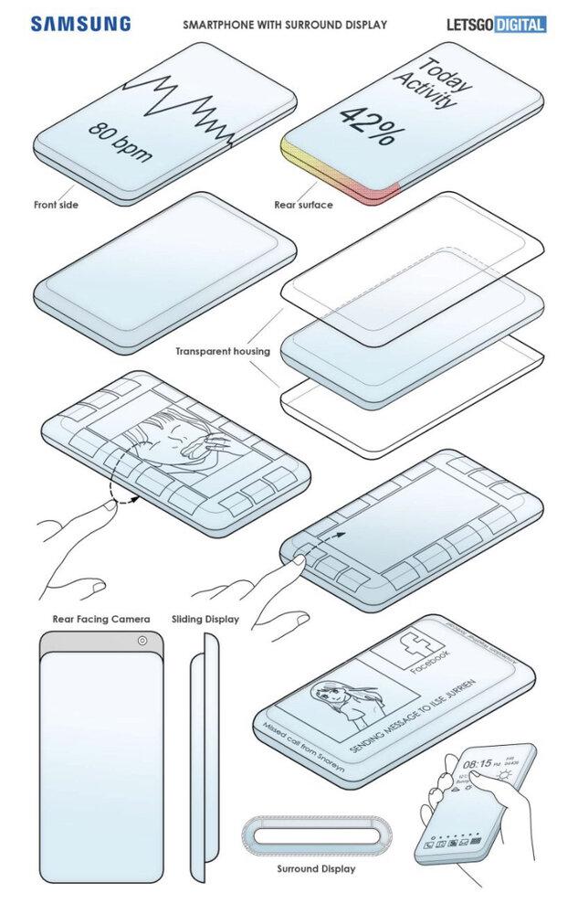 سامسونگ موبایل کشویی عجیب با ۲ نمایشگر میسازد!