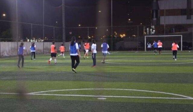 شروع لیگ فوتبال زنان عربستان+ عکس