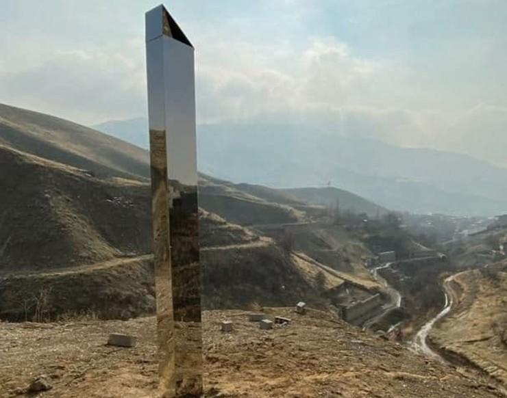 مشاهده «مونولیت» اسرار آمیز جهان در جاجرود ایران + تصاویر